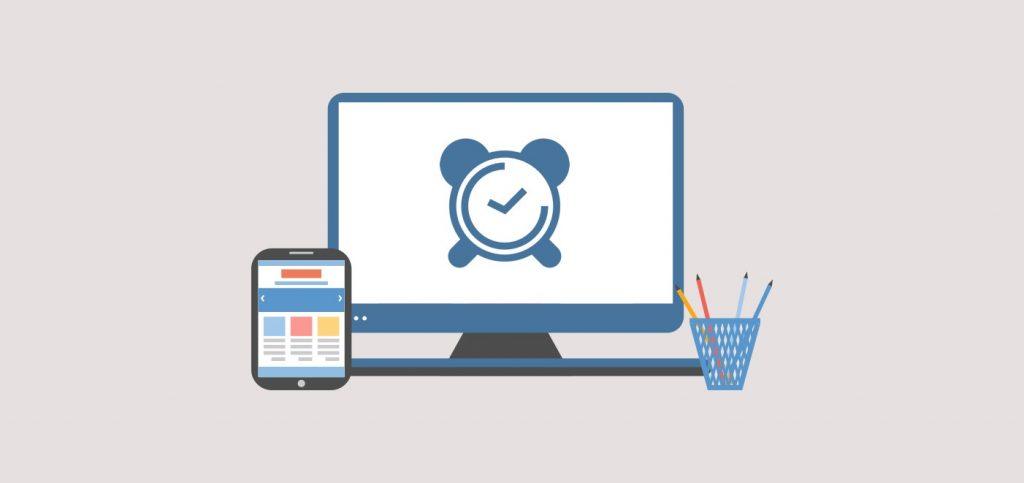 website clock design