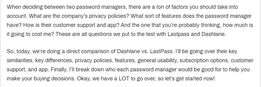 Dashlane Vs. LastPass intro
