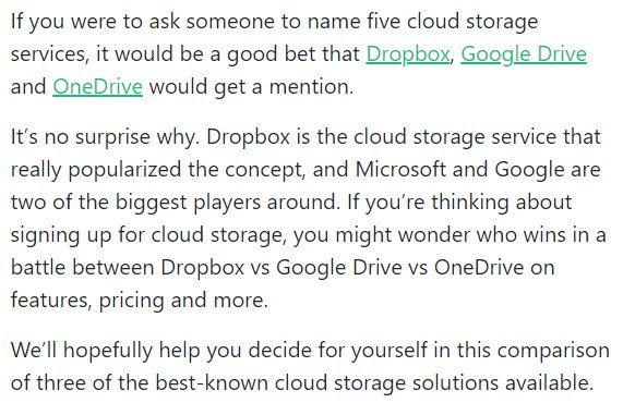 Dropbox vs Google Drive vs OneDrive Which Cloud Storage Wins