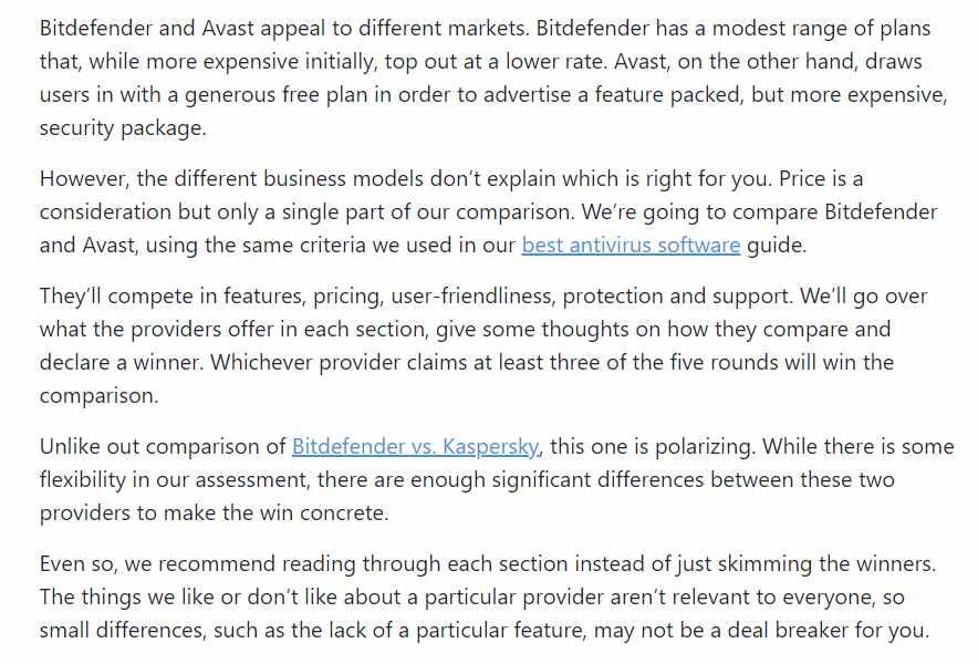Setting Up a Fight Bitdefender vs. Avast