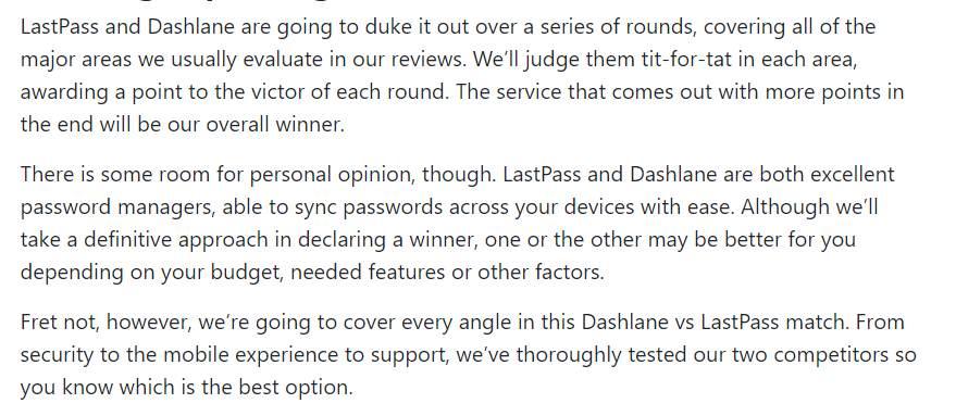 Setting Up a Fight Dashlane vs. LastPass
