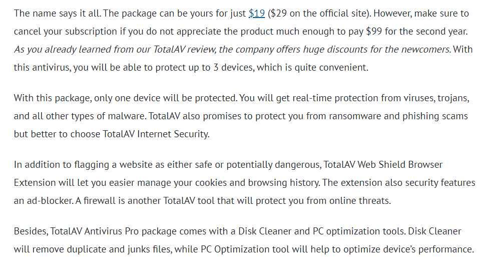 Total AV Pro Antivirus for Entry-Level Protection