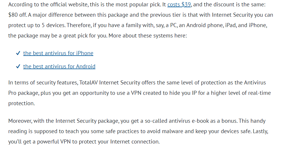 TotalAV Internet Security for Multiple Devices Protection
